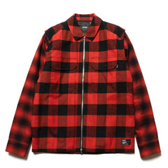 HAVEN Mechanic Insulated Shirt - Primaloft® Cotton Flannel Red, Shirts