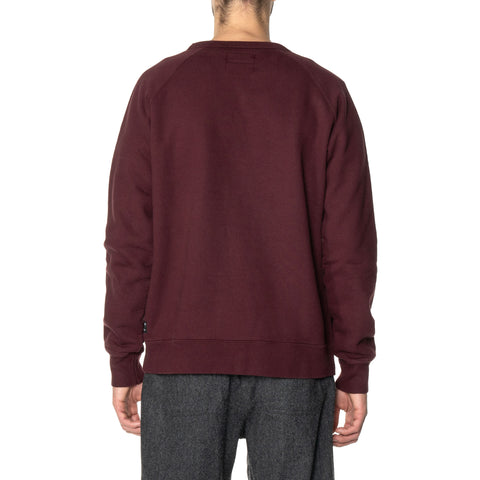 HAVEN Midweight Crewneck - Garment Dyed Fleece Garnet, Sweaters