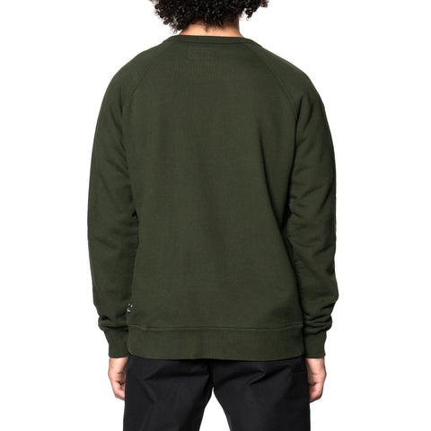 HAVEN Midweight Crewneck - Garment Dyed Fleece Spruce, Sweaters