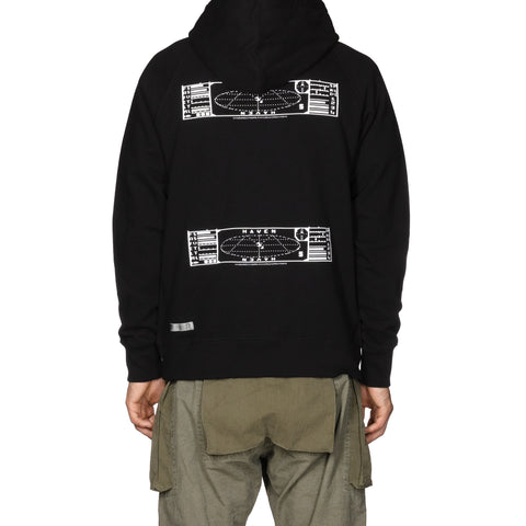 HAVEN / mo'design SONAR Pullover Hoodie - Mid Weight Cotton Terry Black, Sweaters