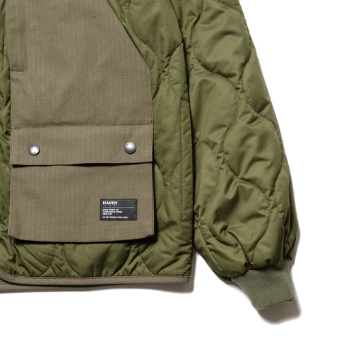 HAVEN Recon Liner Jacket - PrimaLoft® Nylon Ripstop Olive, Outerwear