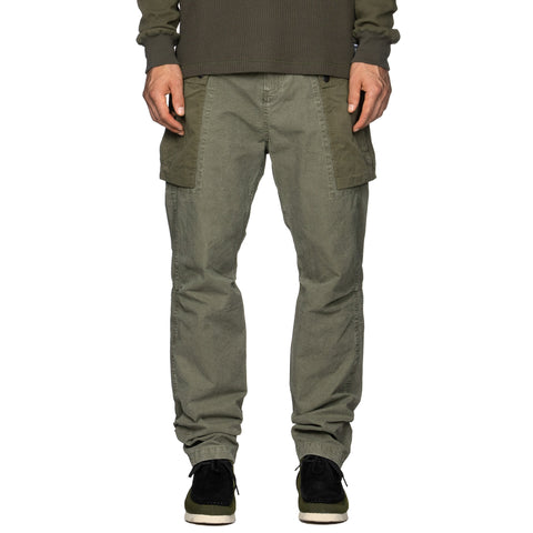 HAVEN Monkey Pant - Sulphur Dyed Cotton Olive, Bottoms