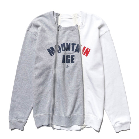 Mountain Research 4 Zips Mix 1 Gray/Gray/White, Sweaters