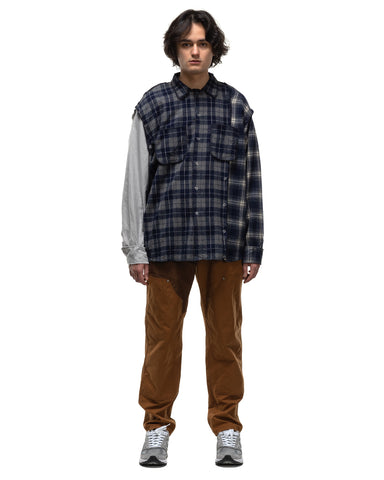 Mountain Research No Sew Shirt 1 Navy Check, Shirts
