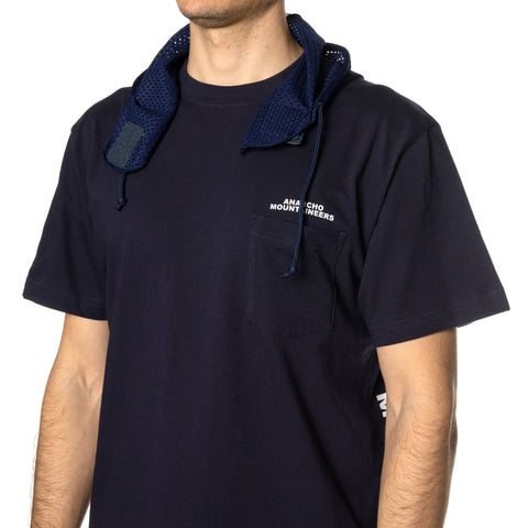 Mountain Research S/S Tee w/Hood Navy, T-Shirts