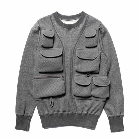 Mountain Research Sweat w/Vest Gray, Outerwear