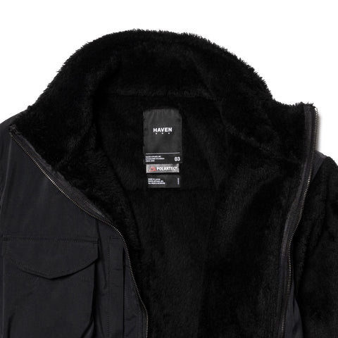 HAVEN Mountain Utility Jacket - Polartec® Fleece Black, Outerwear