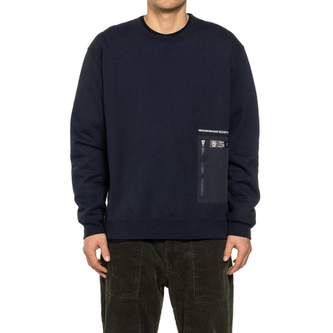 NEIGHBORHOOD Heavys . ST / C-Crew . LS Navy, Sweaters