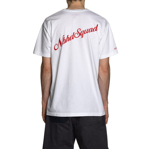 NEIGHBORHOOD NH Squad / C-Tee . SS White, T-Shirts