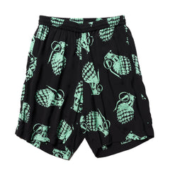 NEXUSVII Rayon Shorts (GRENADE) Black/T.Blue, Bottoms
