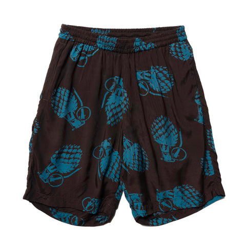 NEXUSVII Rayon Shorts (GRENADE) D.Brown/Blue, Bottoms