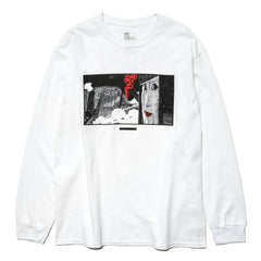 NEXUSVII 'THE NIGHT VIEW' LS T-Shirt White/Red, T-Shirts