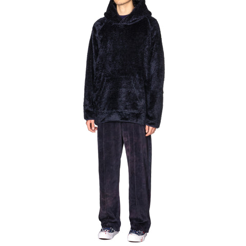 Needles Andre Hoody - Synthetic Fur Navy, Sweaters