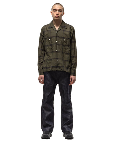 Needles C.O.B. One-Up Shirt - C/S Plaid Olive, Shirts