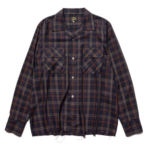 Needles C.O.B. Classic Shirt - R/Pe Plaid Twill Navy, Shirts