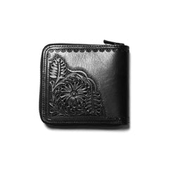 Needles Carving Sigle Wallet Black, Wallets