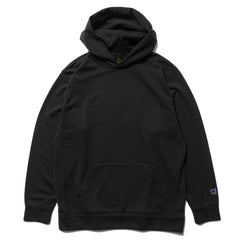 Needles Classic Hoody - Synthetic Jersey / Terry Lined Black, Sweaters