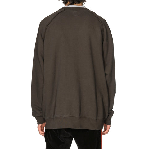 Needles Crew Neck Sweat - Cotton Jersey / Discharge Print Charcoal, Sweaters