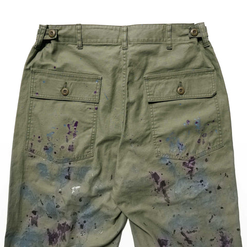 Needles Fatigue Pant - Back Sateen / Paint Olive, Bottoms