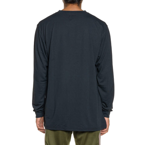 Needles L/S Crew Neck Tee - Poly Jersey Black, T-Shirts