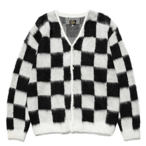 Needles Mohair Cardigan - Checkered Off White, Tops