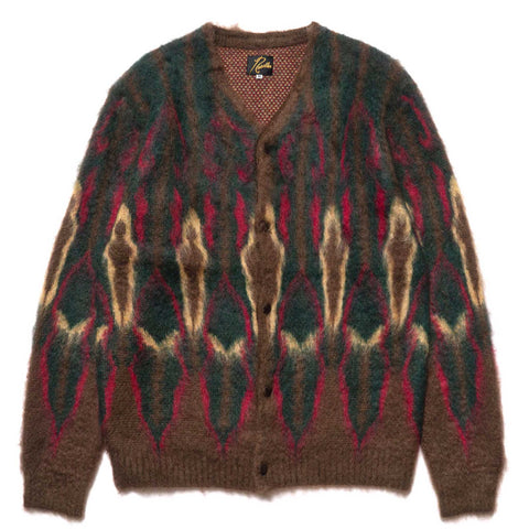 Needles Mohair Cardigan Psychedelic Brown