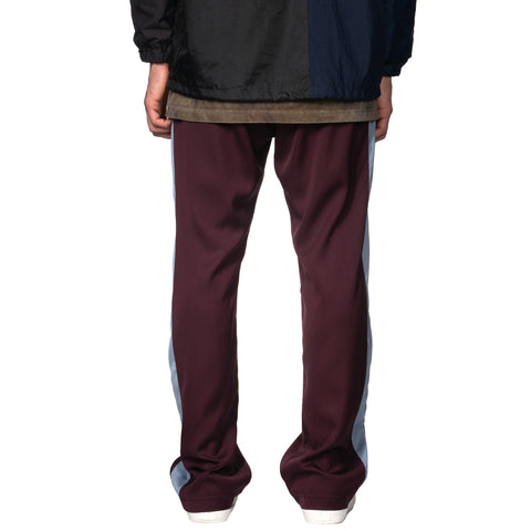 Needles Papillon Emb. Side Line Track Pant - CU/ PE/ PU Twill Purple, Bottoms