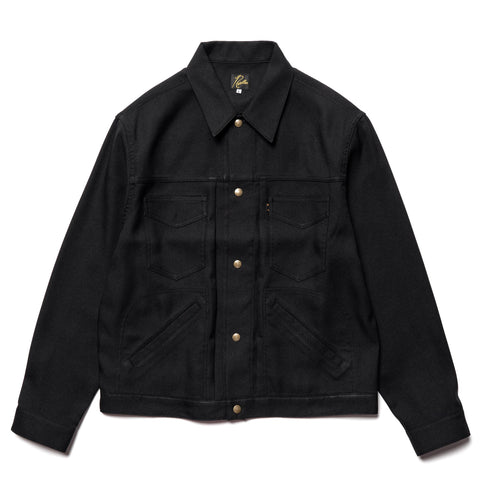 Needles Penny Jean Jacket - Poly Twill Black, Outerwear