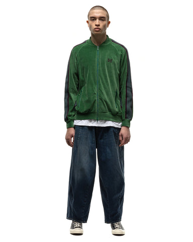 Needles R.C. Track Jacket - C/Pe Velour Green, Outerwear