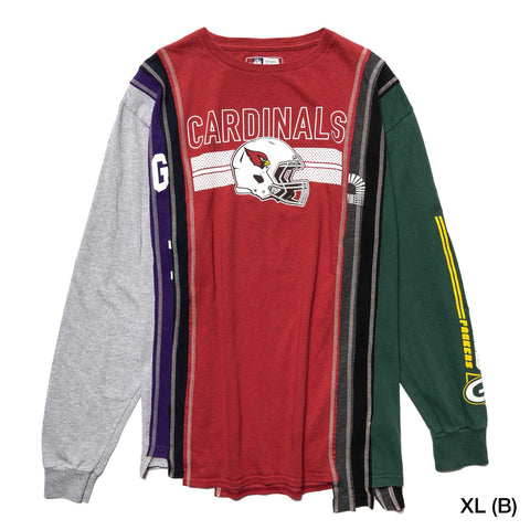 Needles Rebuild by Needles 7 Cuts L/S Tee - College Assorted, T-Shirts