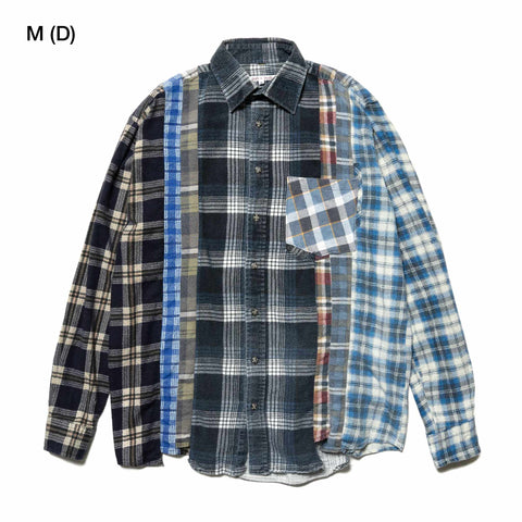 Needles Rebuild by Needles Flannel Shirt - 7 Cuts Shirt Assorted, Tops