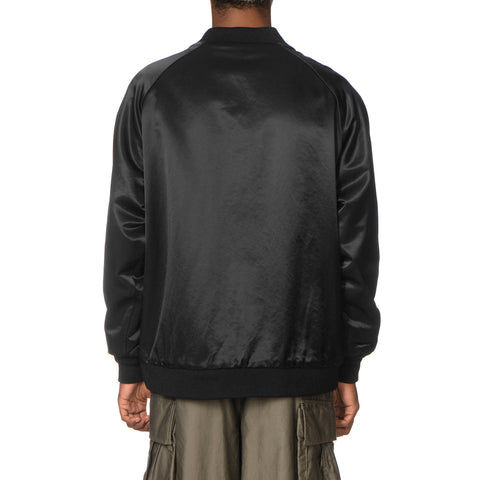 Needles Reversible Rib Collar Jacket - C/R Sateen/Rayon Pile Black, Jackets