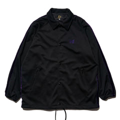 Needles Side Line Coach Jacket Poly Smooth Black, Jackets