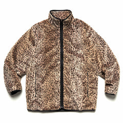 Needles Sportswear W.U. Piping Jacket - Faux Fur Leopard, Outerwear