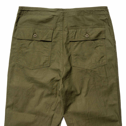 Needles String Fatigue Pant - Back Sateen Olive, Bottoms