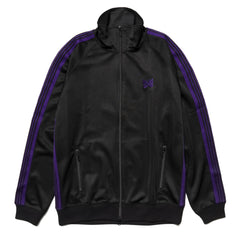 Needles Track Jacket - Poly Smooth Black, Outerwear