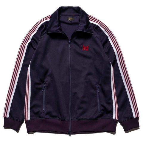 Needles Track Jacket Poly Smooth Eggplant, Jackets