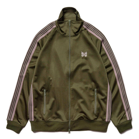 Needles Track Jacket - Poly Smooth Olive, Outerwear