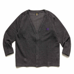 Needles V Neck Cardigan - Gunclub Jq. Charcoal, Knits