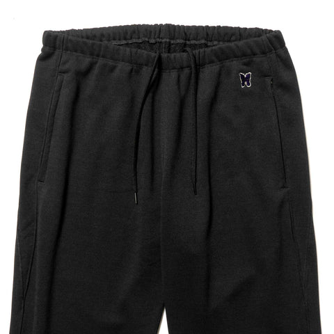 Needles Zipped Sweat Pant - Synthetic Jersey / Terry Lined Black, Bottoms