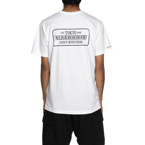 NEIGHBORHOOD Bar & Shield / C-Tee . SS White, T-Shirts