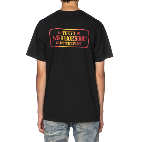 Neighborhood Bar & Shield-G / C-Tee . SS Black, T-Shirts