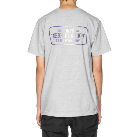 Neighborhood Bar & Shield-G / C-Tee . SS Gray, T-Shirts
