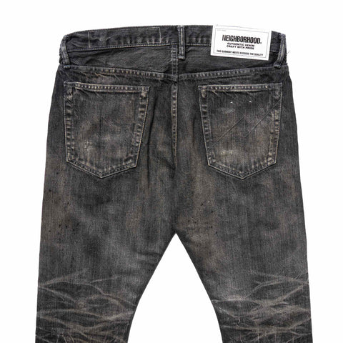 NEIGHBORHOOD Bullet Savage . DP Narrow / 14oz-PT Black, Bottoms