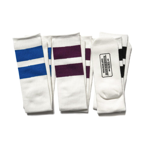 NEIGHBORHOOD Classic 3Pac / CA-Long Socks White, Socks