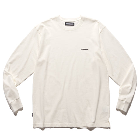 NEIGHBORHOOD Classic / C-Crew . LS White, T-Shirts