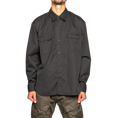 NEIGHBORHOOD Twill Work / C-Shirt . LS Charcoal, Shirts