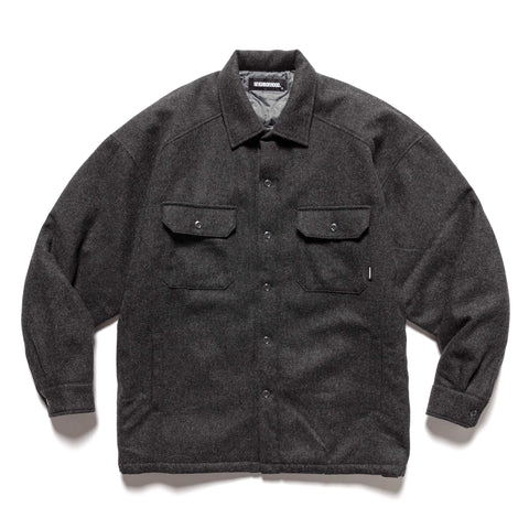 NEIGHBORHOOD Corps / WE-Shirt . LS Charcoal, Shirts
