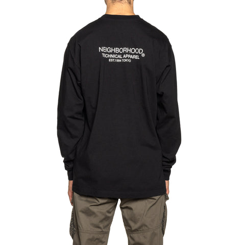 NEIGHBORHOOD Distortion-1 / C-Tee . LS Black, T-Shirts