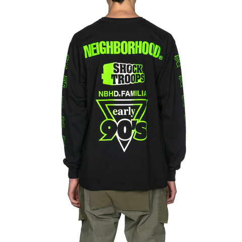NEIGHBORHOOD Familia / C-Tee . LS Black x Green, T-Shirts